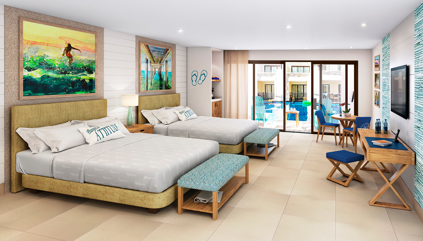 Photo of the Swim Up Paradise Junior Suite